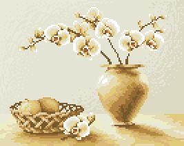 Схема Орхидеи в вазе