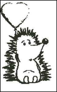 Схема Ежик с воздушным шариком