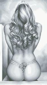 Схема Белые розы (Красивый силуэт)