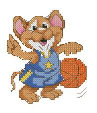 Схемы для вышивки баскетбол