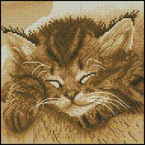 Схема Спящий котенок