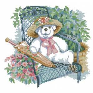 Схема Медведи в саду. Мишка с зонтиком