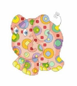Схема Цветной слон