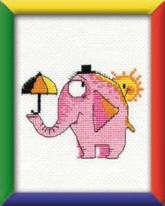 Схема Розовый слон