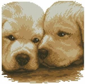 Схема Два щенка