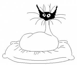 Схема Кот на подушке / Kat