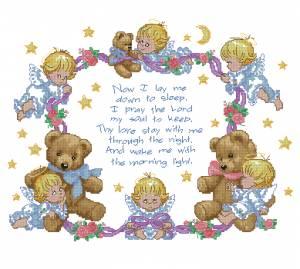 Схема Детское одеяло «Ночная молитва»