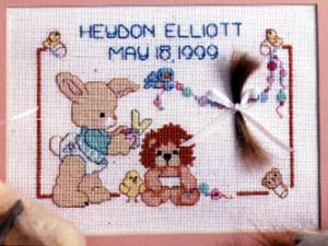 Схема Детский локон / Baby Curl Birth Announcement