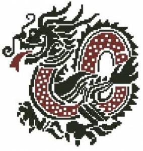 Схема Дракон черно-красный