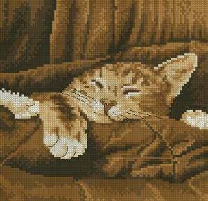 Схема Котик спит