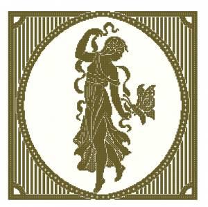 Схема Девушка с бабочкой (подушка, картина)