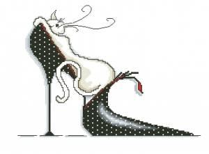 Схема Кошка в черной туфле