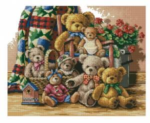 Схема Семья мишек Тедди