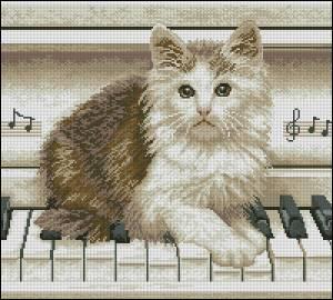 Схема Кошечка на пианино