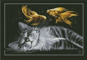 Схема Счастливый сон (с цветными рыбками)