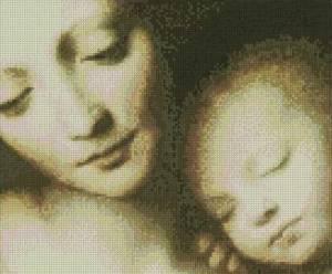 Схема Мадонна с младенцем