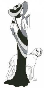 Схема Дамочка с собакой