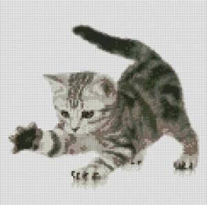 Схема Игривый котенок
