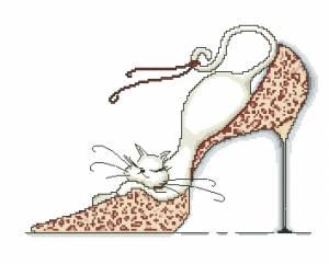 Схема Кошка в красной туфле