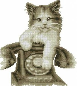 Схема Котёнок с телефоном
