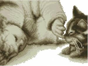 Схема Ребенок и котенок