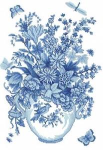 Схема Голубой букет