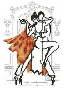 Схема Танец в оранжевом