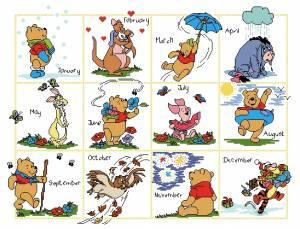Схема Календарь Пух и Ко