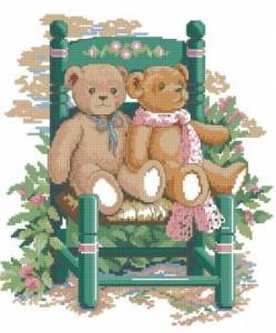 Схема Медведи в саду. Пара мишек