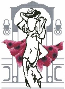 Схема Танец в красном