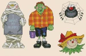 Схема Хэллоуин, монстр, паук