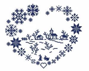 Схема Сердце из снежинок