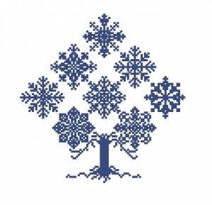 Схема Дерево из снежинок