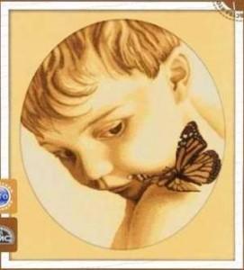 Схема Мальчик с бабочкой