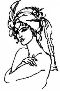 Схема Персидские мотивы. Красавица