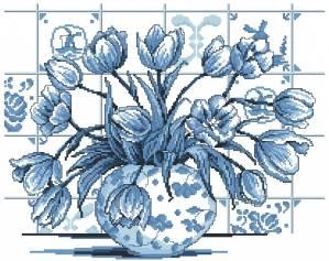 Схема Тюльпаны индиго