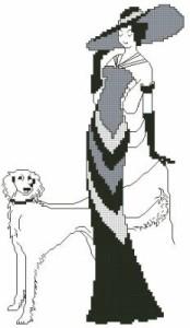 Схема Дама с собакой