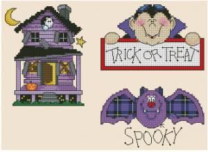 Схема Хэллоуин, дом, летучая мышь
