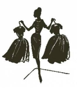 Схема Дама с одеждой