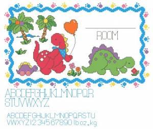 Схема Динозаврики и воздушный шарик