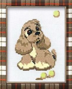 Схема Собачка с желтыми мячиками