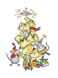 Схема Мышки. Новогоднее угощение