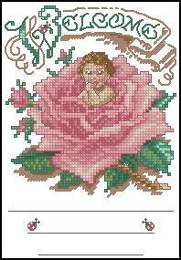 Схема Малыш в розе