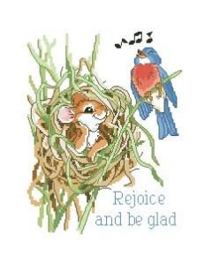 Схема Нежные мысли. Радуйтесь и веселитесь! / Rejoice and be glad