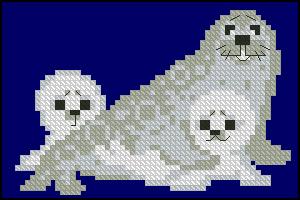 Схема Белые тюлени