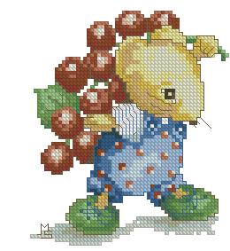 Схема Мышка с виноградом