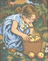 Схема Девочка и яблоки