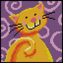 Схема Довольный кот