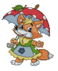 Схема Зонт лисы / Foxy Umbrela