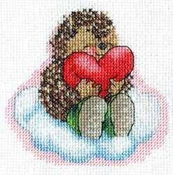 Схема Ежик с сердцем